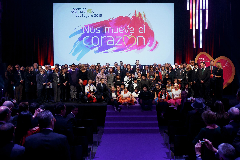 Los Premios Solidarios del Seguro 2015 organizados por Wilmington INESE tienen lugar en el Circulo de Bellas Artes el 24 de Noviembre de 2015, en Madrid, España. (© Pablo Blazquez)
