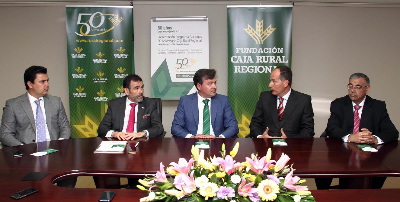 rueda de prensa 50 aniversario caja rural regional